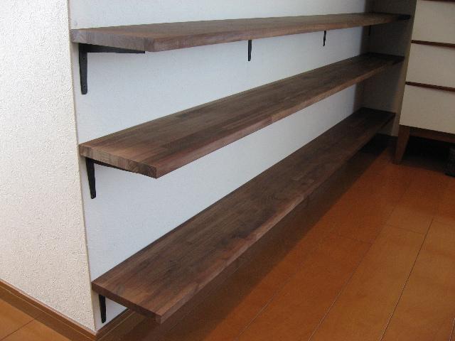 壁に付けられる家具・アルミ・棚・44cm